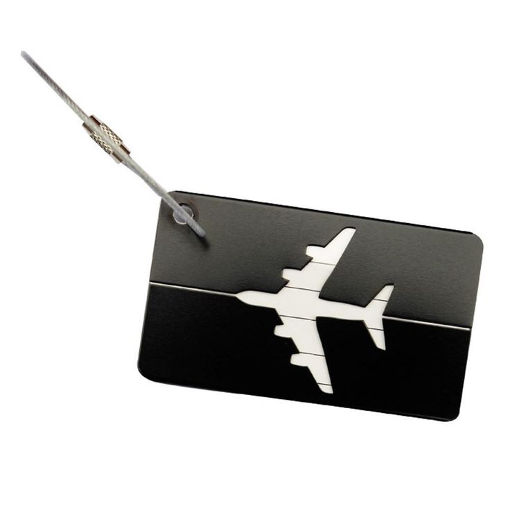 New Fashion Travel Luggage Label luggage tag Airplane Shape Square Suitcase Name ID Address Tags travel accessories best love