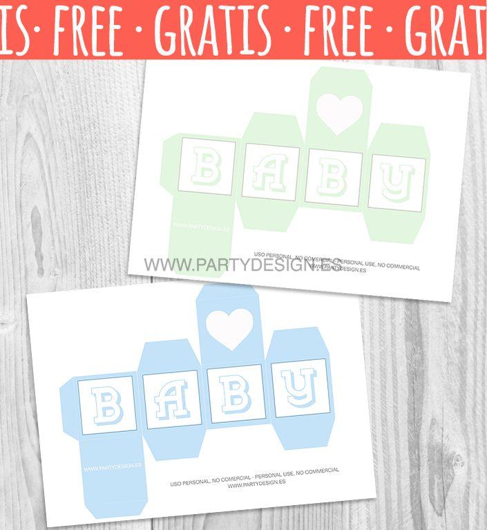Dados Letras Baby Shower Para Imprimir Gratis Cube Letter Baby
