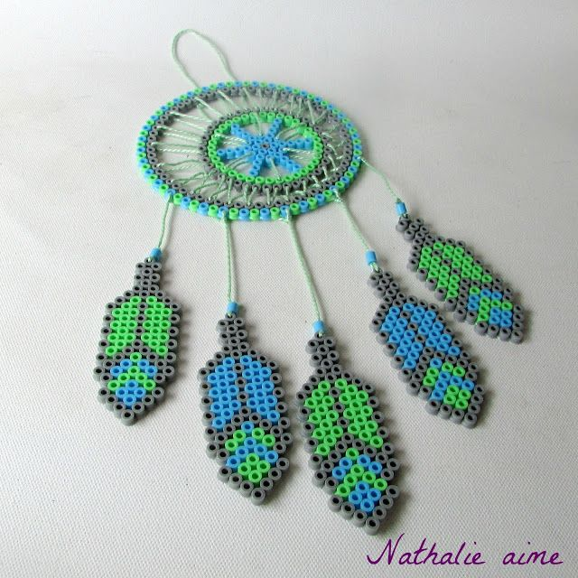 Nathalie M: SC & more # 279 – mon attrape rêves en perles à re… – nathalie aime