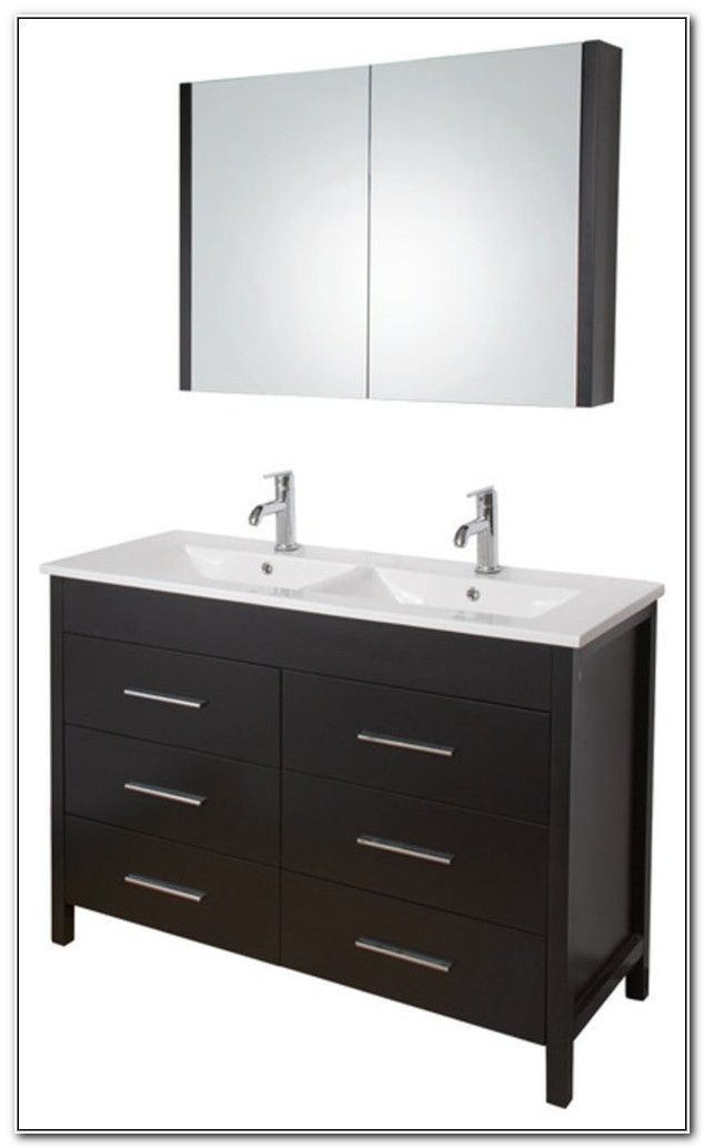 48 Inch Adelina Antique White Bathroom Vanity Fully Assembled
