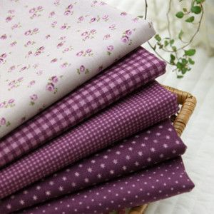 Jenny Purple 5 Different Kinds Quilt Fabric Bundle