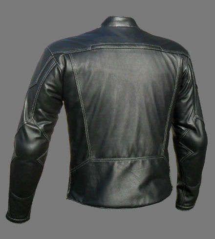 Chaqueta para hombre negro cuero chaqueta hombres moteros