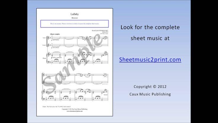 The Nutcracker : Lullaby - Violin Duet Sheet Music www.sheetmusic2print.com/Tchaikovsky/Violin-Duet/Nutcracker-Lullaby.aspx