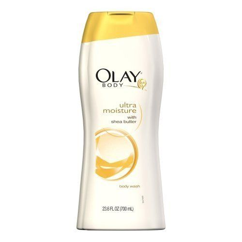 Olay Ultra Moisture Body Wash With Shea Butter 23.6 oz. by Olay. $12.99. Use Olay Complete Body Wash as a shaving aid, then rinse.. Olay moisturizers that penetrate deep within the surface for conditioning even extra dry skin for up to 24 hours.. For gentle cleansing and a clean rinse that keeps in moisture without leaving a heavy residue.. Gently cleanse skin with a soap-free formula with shea butter that also moisturizes to condition even the driest skin for up to 24 hours. C...