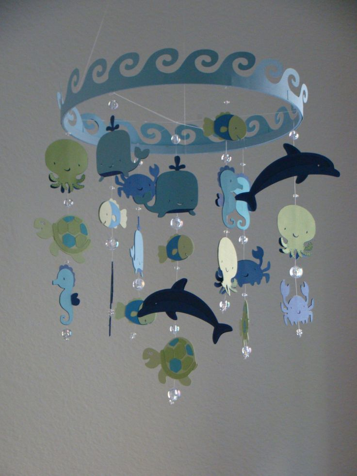 Baby Mobile Ocean Creature Sea Baby Mobile CUSTOMIZE your colors! by magicalwhimsy on Etsy https://www.etsy.com/listing/120250786/baby-mobile-ocean-creature-sea-baby