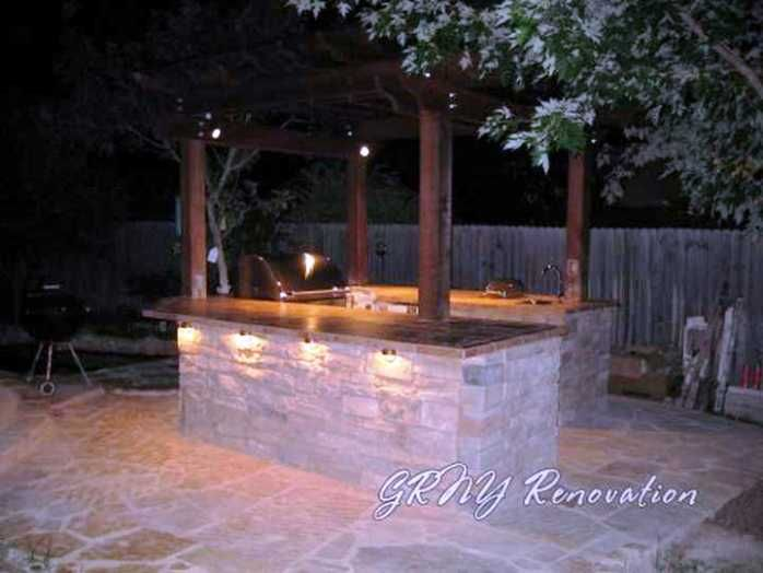 outdoor kitchen lighting design from httphomedecorremodelingcomlighting ideas - Outdoor Kitchen Lighting Ideas