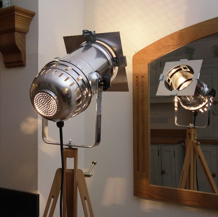 Retro Chic classic theatre/stage light + tripod, stylish floor lamp - VARIATIONS in Home, Furniture & DIY, Lighting, Lamps | eBay