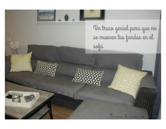 MI RINCÓN DE SUEÑOS: Truco para inmovilizar tus fundas del sofá