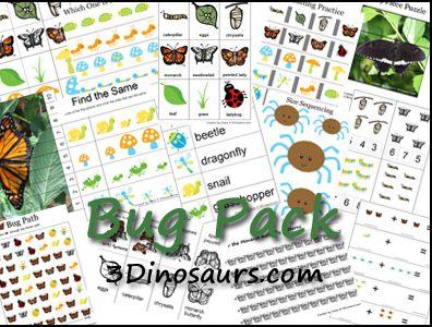 Educational Freebie: Preschool Printable Bug Pack