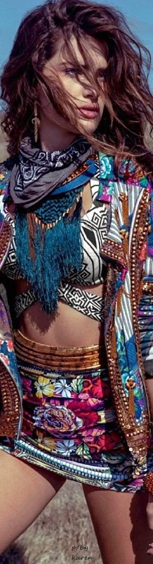 Isabeli Fontana for Marie Claire  ≫∙∙☮ Bohème Babe ☮∙∙≪• ❤️ by Babz™ ✿ιиѕριяαтισи❀ #abbigliamento #bohojewelry #boho