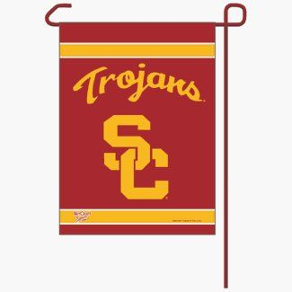 """USC 11x15 Economy Garden Flag by WinCraft. $9.75. Made in USA.. Banner designed to hang vertically from a garden flag pole or inside as wall decor.. Durable polyester flag measures 11"""" x 15"""".. Machine washable.. Officially licensed NCAA garden flag.. This is a special order item and takes longer to leave our warehouse, which is reflected in the estimate above These garden flags are a great way to show who your favorite team is, and also makes a great gift! They are a great..."""