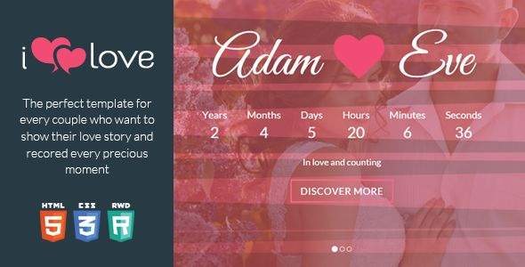 ilove v1.2.2  Love Story HTML Wedding Template