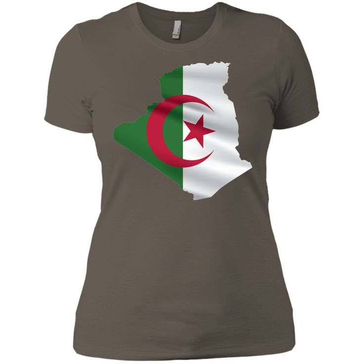 algeria flag -01 Next Level Ladies' Boyfriend Tee
