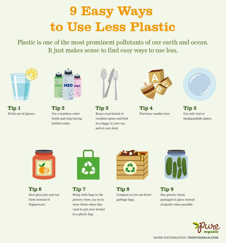 9 Ways to Use Less Plastic