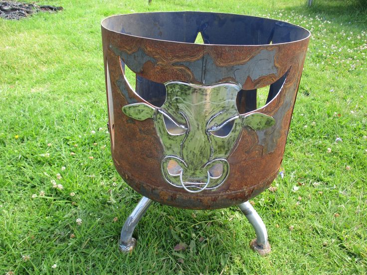 Angus Bull Brazier. Built for a mate called Angus.