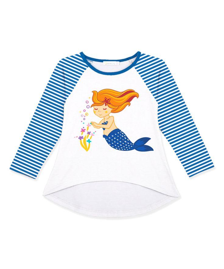 Navy Mermaid Raglan Tee - Toddler & Girls by Sunshine Swing #zulily #zulilyfinds