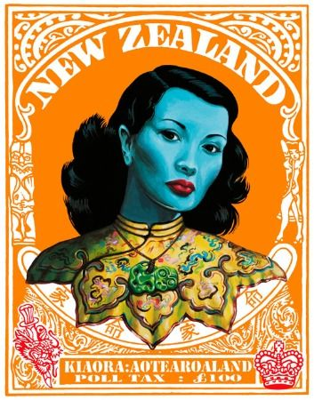 Chinese girl by Vladimir tretchikoff  Poll Tax by Lester Hall for Sale - New Zealand Art Prints