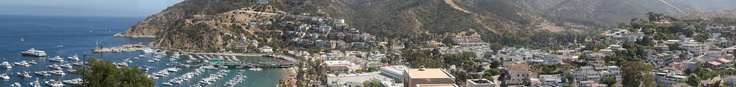 view from the balcony of the Zane Grey, Catalina, CA (jpg 4,367×522 pixels)