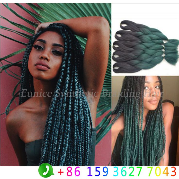 25 beautiful braided hair extensions ideas on pinterest crochet find more bulk hair information about cheap mix gray green braiding hair kanekalon ombre braid hair pmusecretfo Images