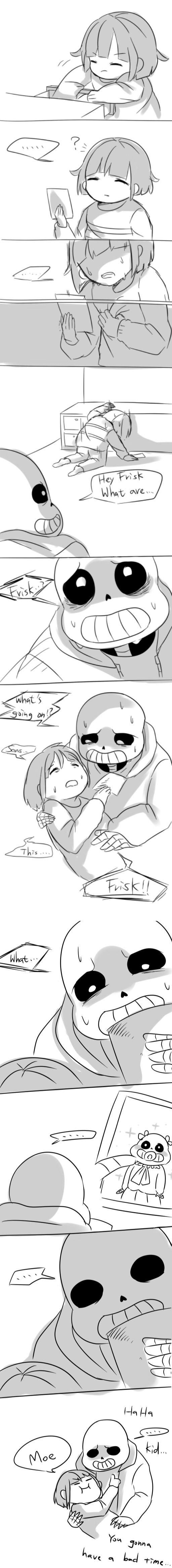Frisk and Sans - comic - lol