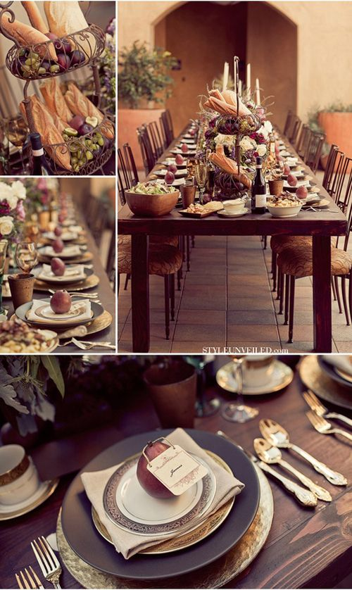 Tuscan Delight...love the thought of an intimate wedding with just a couple of tables like these filled with nearest and dearest.