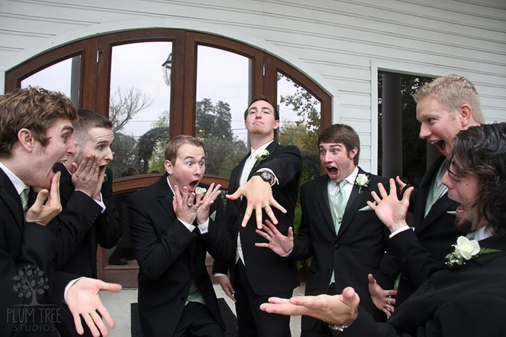 They're just as excited as you are. (Ideas For Groomsmen Photos)