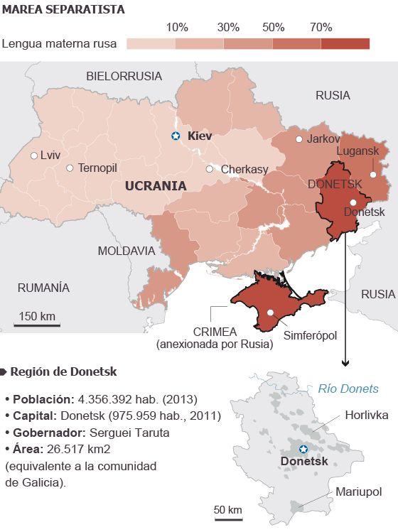 Activistas prorrusos declaran la República independiente de Donetsk | Internacional | EL PAÍS