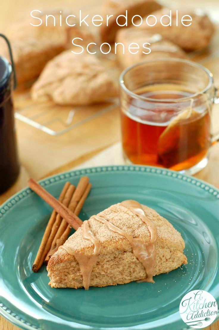 Snickerdoodle Scones Recipe l www.a-kitchen-addiction.com