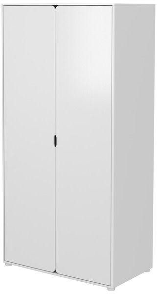 """FLEXA Shop Lissone - Armadio """"extra alto"""" a 2 ante, 4 ripiani e 1 barra per appendere"""