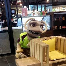Murray P Termite out and about in Colonnades Shopping Centre