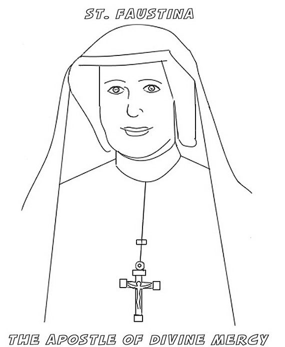 Divine Mercy Coloring Page 06