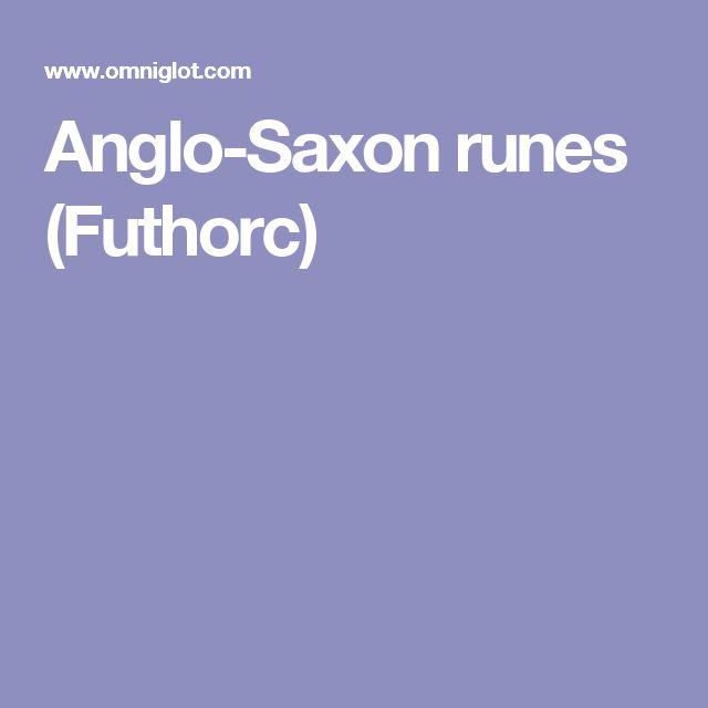 Anglo-Saxon runes (Futhorc)