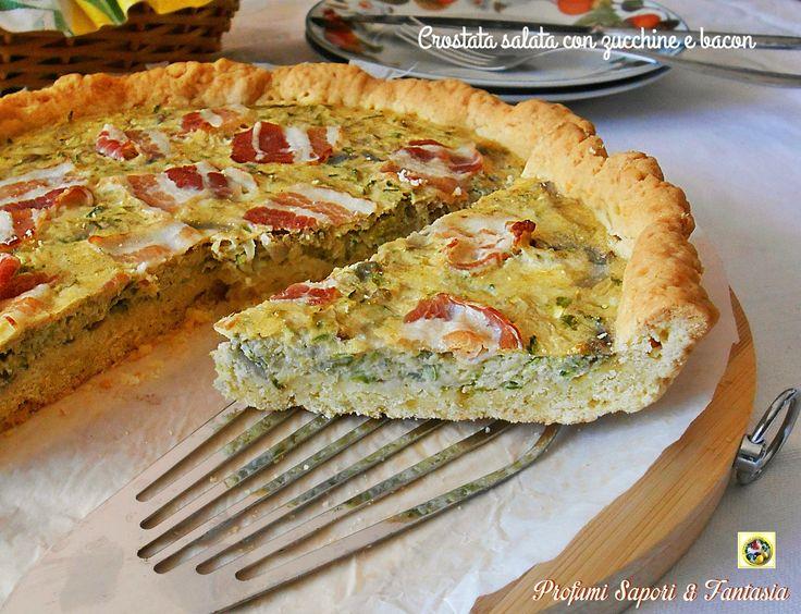 Crostata salata con zucchine e bacon