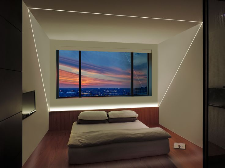 TruLine LED lighting is the centerpiece of this bedroom design