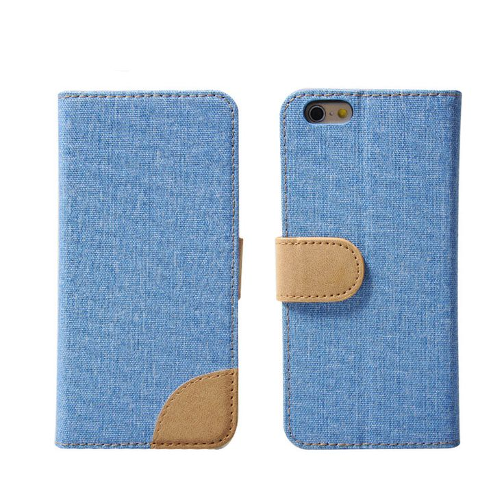 mobile phone leather cover with magnetic.