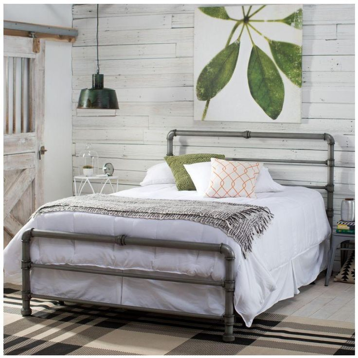 Best 25 pipe bed ideas on pinterest industrial bed - Industrial style bedroom furniture ...