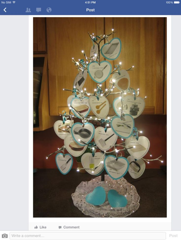 Pampered Chef Bridal Shower Tree http://www.pamperedchef.biz/nikkispc