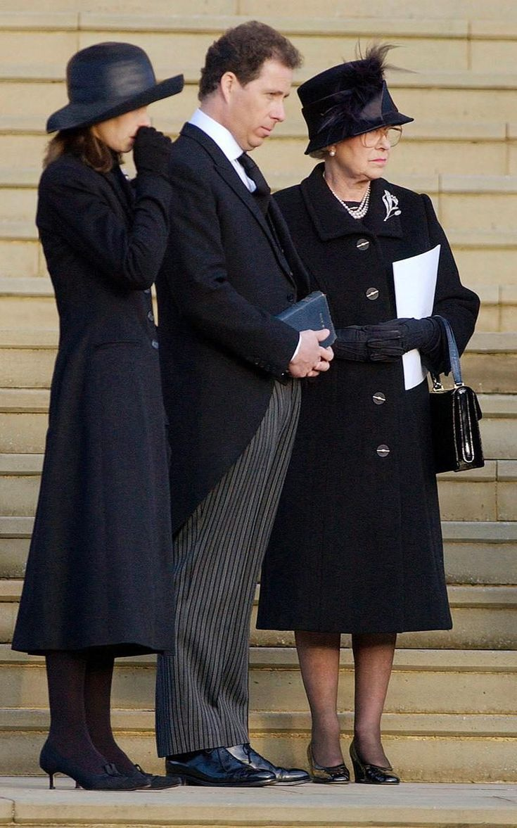 The Royal Family Attending The Funeral Of Princess