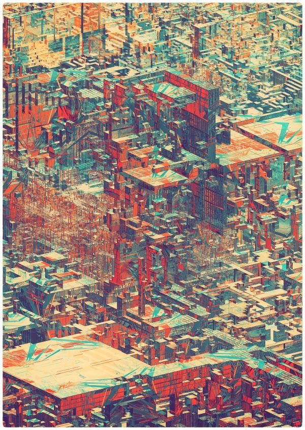 Pixel City II on Behance