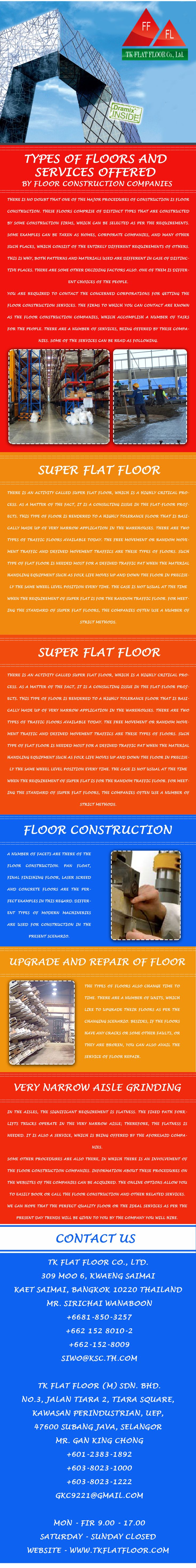 Super Flat floor is rendered to a highly tolerance floor that is basically made up of very narrow application in the warehouses. Great care and consideration is given to optimize the local materials to obtain the best possible concrete mix design with emphasis on finishability and durability.