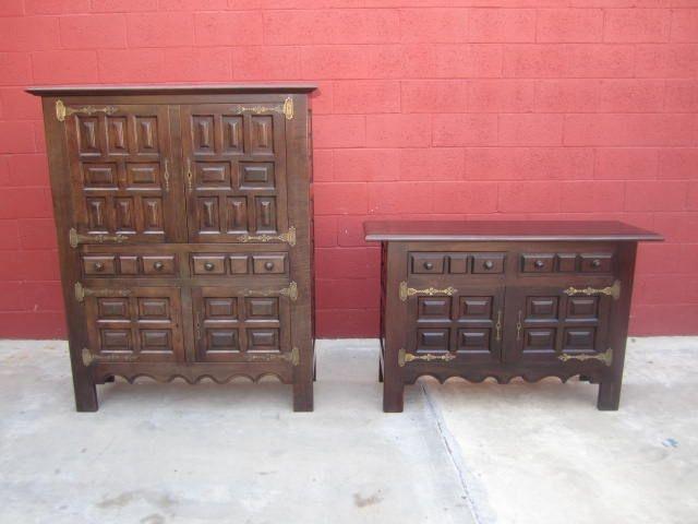 Vintage Spanish Sideboard Cabinet Dining Room Furniture