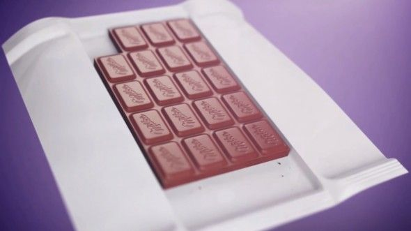 Swiss Chocolate Brand Milka promotes Tenderness with missing Chocolate Squares