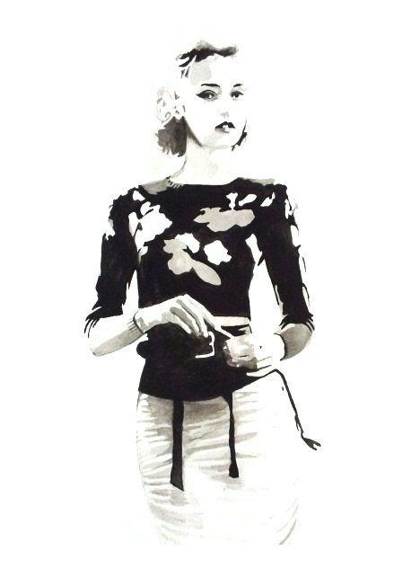 POSTER VOGUE dipinto in acquarello formato di BIANCONIwatercolors