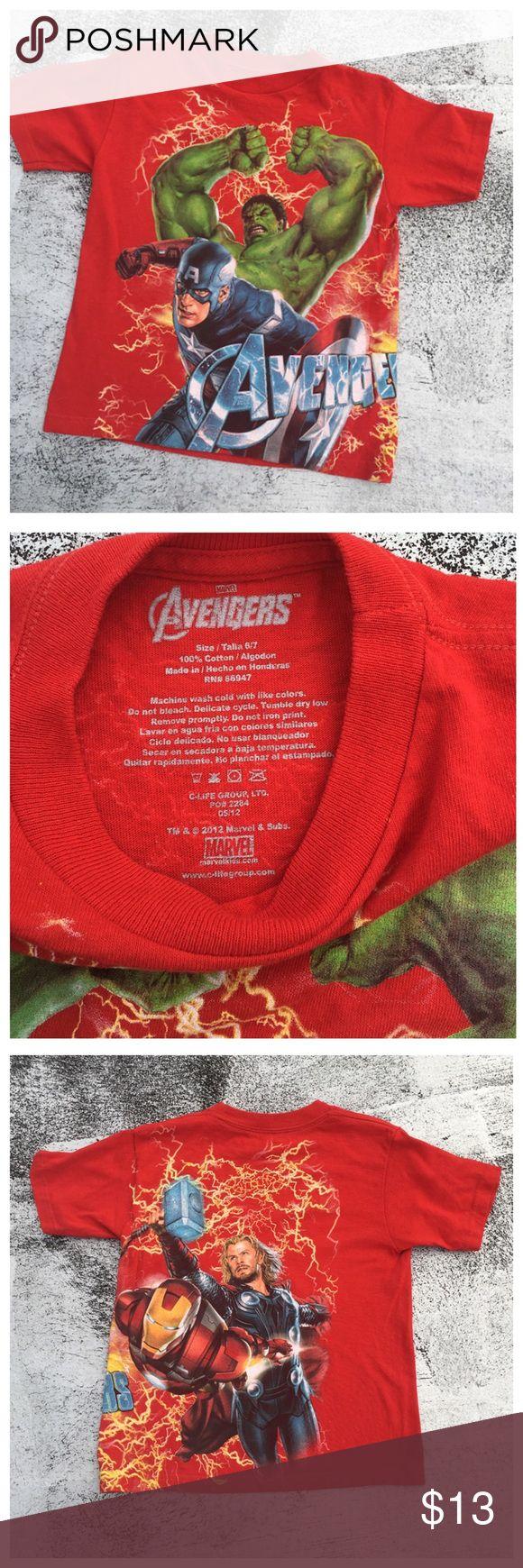 🆕 Avengers T-shirt Boys 6/7 or XSmall on a petite woman Shirts & Tops Tees - Short Sleeve