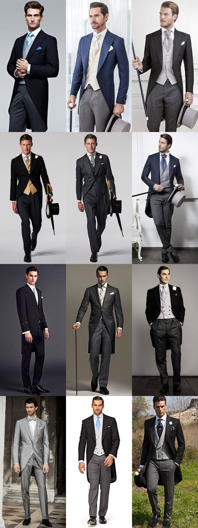 The Grooms Guide To Wedding Wear: The Morning Suit Lookbook Inspiration . . . . . der Blog für den Gentleman - www.thegentlemanclub.de/blog