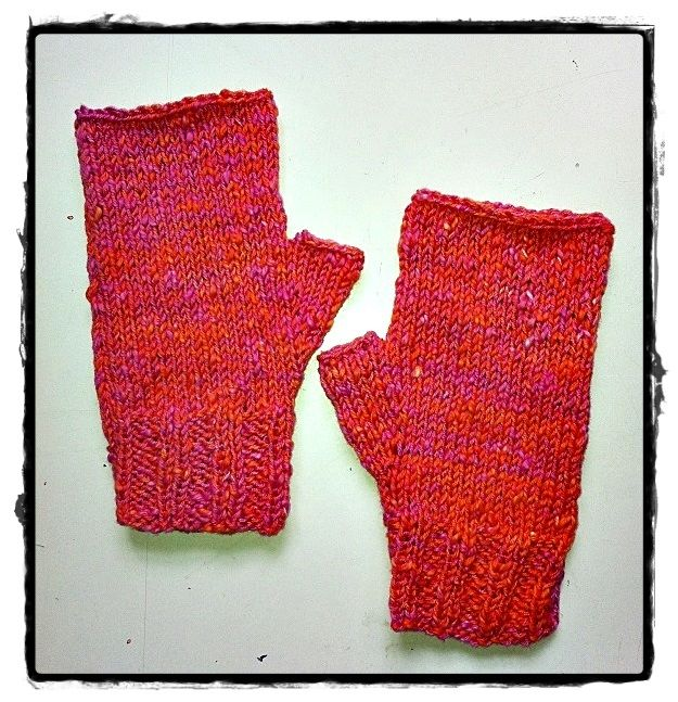 mitones mittens wool lana