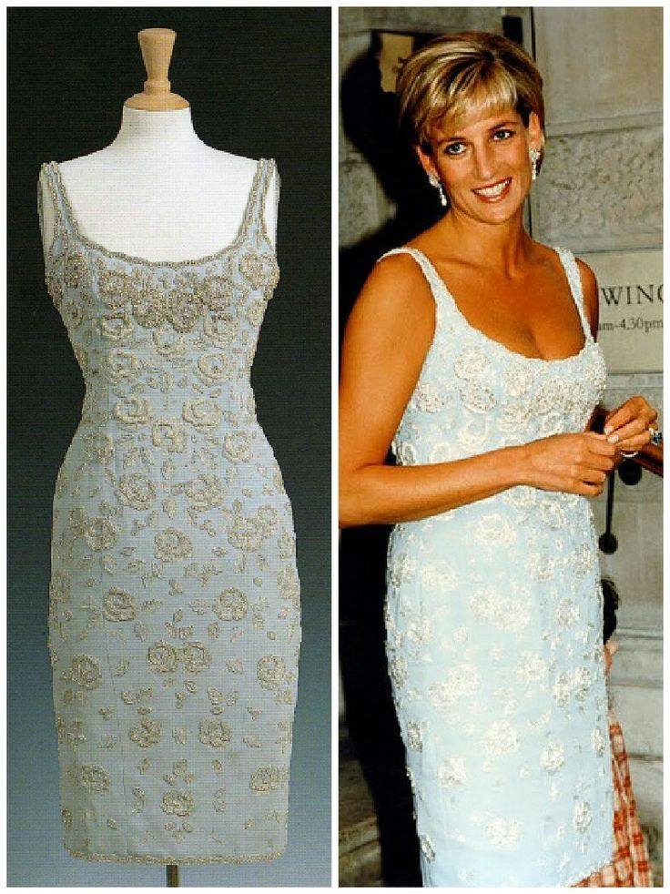 Image result for Princess Diana light blue dress sleeveless (But it looks white to meee!)