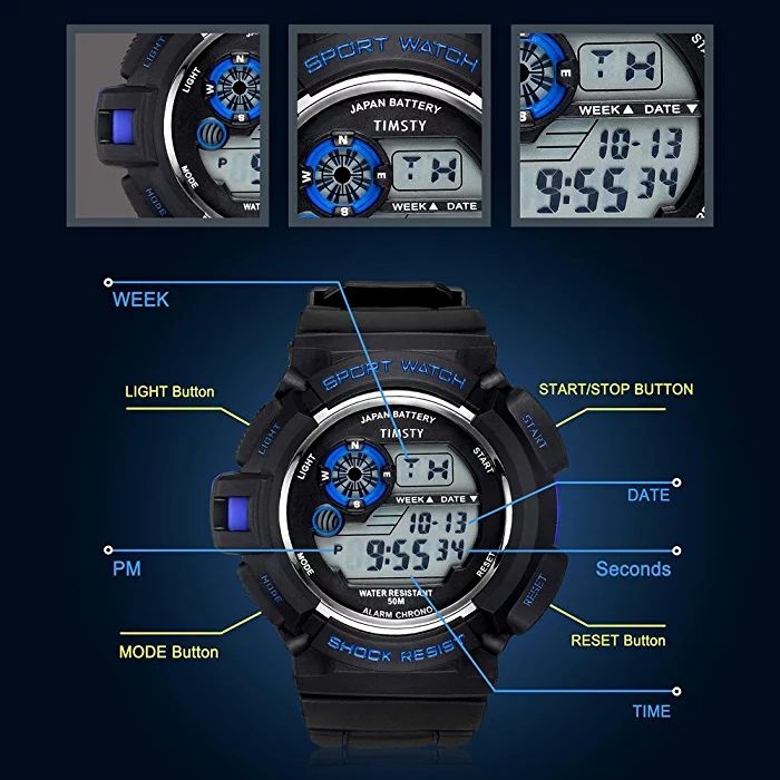azland waterproof watch instructions