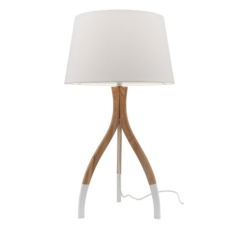 The Carmen TableLamp is a modern Scandinavian style dipped timber table lamp. With its timber base and dipped white legs, the Carmenwill suit any room from sh