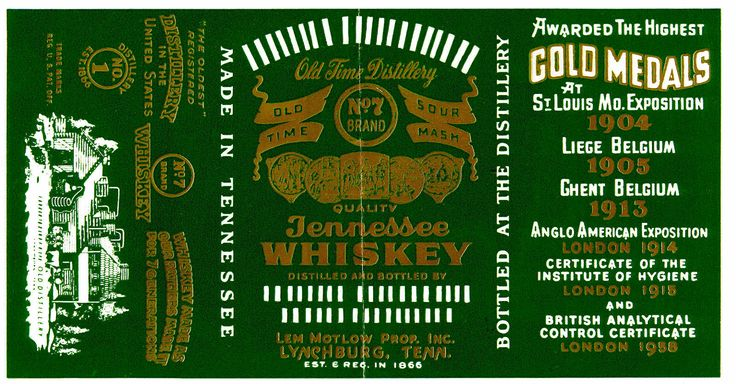 Jack Daniel's Green Label is a lighter, less mature whiskey with a lighter color and character. The barrels selected for Green Label tend to be on the lower floors and more toward the center of the warehouse where the whiskey matures more slowly.